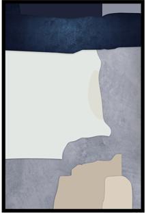 Quadro 150X100Cm Abstrato Geomã©Trico Oriental Malko Moldura Preta Com Vidro - Multicolorido - Dafiti