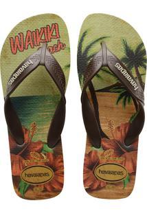 Sandálias Havaianas Surf Bege