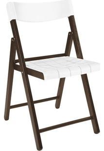 Cadeira Dobrável Tramontina Potenza 13791084 Tabaco E Branco