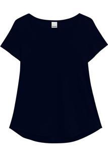 Blusa Azul Marinho Mullet Conforto Malwee