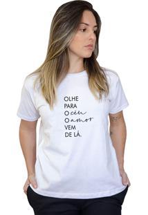 Camiseta Boutique Judith Olhe Para O Céu Branco