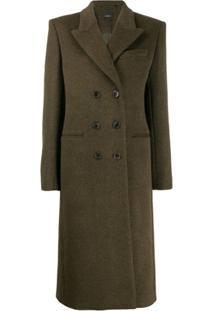 Isabel Marant Double-Breasted Maxi Coat - Verde