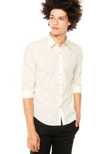Camisa Ellus 2Nd Floor Naipes Off-White