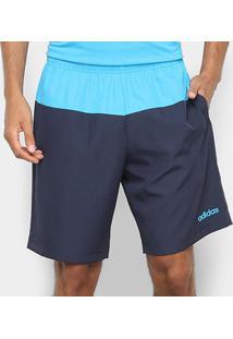 Bermuda Adidas Colourblock 2 Masculina - Masculino-Azul Claro