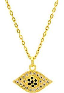 Gargantilha Horus Import Olho De Horus Banhada 18 K - 1061172 Horus Import Feminina - Feminino-Dourado