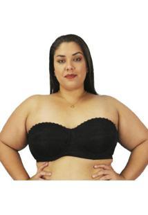 Sutiã Plus Size Tomara Que Caia Renda Nayane Rodrigues Unica Ref Sp471 - Feminino-Preto