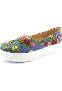 Tênis Flatform Quality Shoes Feminino 003 Foral 798 40