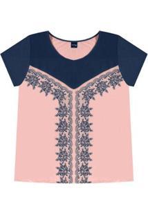 Blusa Rovitex Plus - Feminino-Rosa