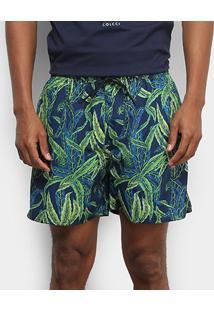 Bermuda Colcci Tropical Masculina - Masculino-Azul+Verde