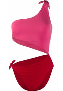 Sian Swimwear Maiô Bicolor Carmen - Rosa