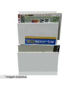 Revisteiro De Parede Duplo- Branco- 50X30X11Cm- Kapos