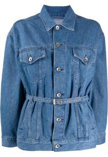Rag & Bone Jaqueta Jeans Com Cinto - Azul