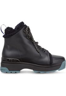 Fendi T-Rex Lace Up Ankle Boots - Preto