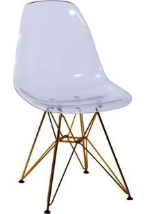 Cadeira Eames Dkr- Incolor & Bronze- 80,5X46,5X42Cm