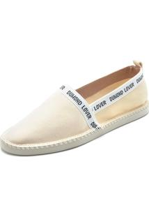 Alpargata Dumond Logo Off-White