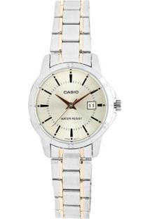 Relógio Feminino Casio Ltp V004Sg 9Audf - Unissex-Prata