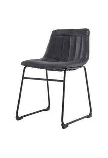 Cadeira Brenda Assento Courino Preto Com Base Aco Preto - 53160 Preto