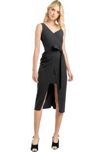 Vestido Mx Fashion Com Recorte Mirella Preto