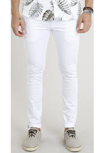 Calça De Sarja Masculina Chino Skinny Branca
