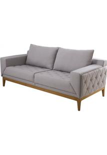 Sofa Beauvoir Cinza Claro Base Mel 2 Lugares - 50423 - Sun House