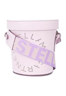 Stella Mccartney Perforated Logo Bucket Bag - Roxo