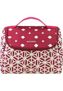 Bolsa Térmica Geométrica- Vermelha & Branca- 23X18X1Jacki Design
