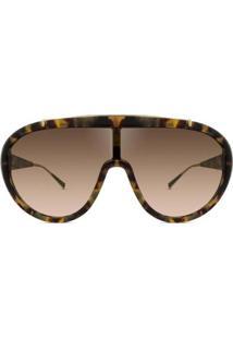Óculos De Sol Max Mara - Feminino-Marrom