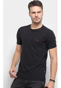 Camiseta Replay Botonê Logo Masculina - Masculino-Preto