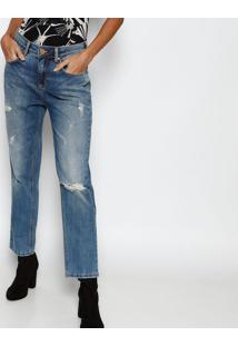 10dbbf7196060 ... Jeans Lolita Com Destroyed - Azul Claroforum