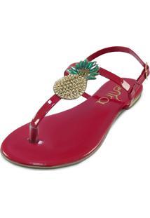 Sandália Itra Abacaxi Vermelho