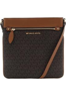 Bolsa Michael Kors Connie Lg Ns Crossbody Marrom