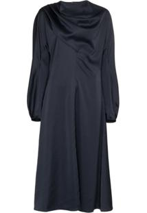 Low Classic Vestido Gola Alta - Azul