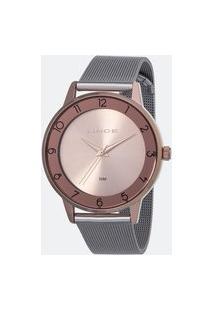Kit Relógio Feminino Lince Lrt4597L-Kw26R2Sx Analógico 5Atm + Pulseira | Lince | Rosa | U