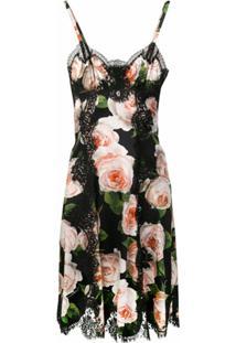 Dolce & Gabbana Vestido Floral - Preto