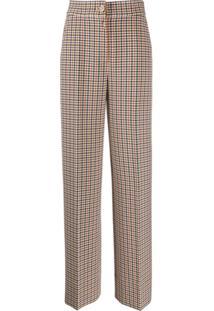 Tory Burch Tailored Plaid Trousers - Neutro