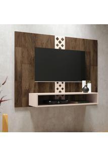 Painel Para Tv Até 47 Polegadas Form Marrom Deck E Off White