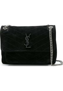 Saint Laurent Bolsa Shoulder Média Niki - Preto