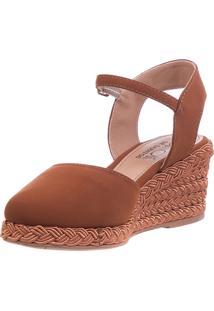 3ad6d0c5e5 ... Anabela Butique De Sapatos Salto Baixo Caramelo