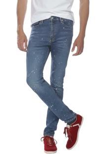 Calça Jeans Levis 510 Skinny Azul Claro Com Detalhes - Masculino