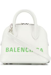 Balenciaga Bolsa Tote Ville Xxs Aj - Branco