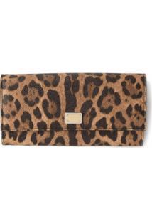 Dolce & Gabbana Bolsa Carteira Leopardo - Marrom