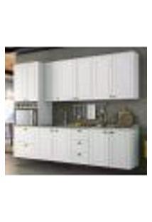 Cozinha Modulada 5 Peças 100% Mdf Americana 5 Branco Henn