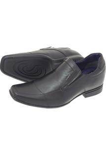 Sapato Social Sândalo Up Com Elevação Elastico Preta
