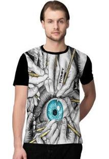 Camiseta Stompy Psicodelica26 Masculina - Masculino-Preto