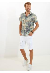 Camisa John John Hawaii Estampado Masculina Camisa Hawaii-Estampado-Gg