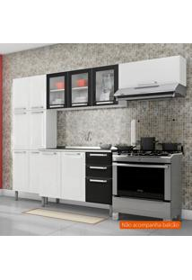 Cozinha Compacta Tarsila Ll 10 Pt Branca E Preta