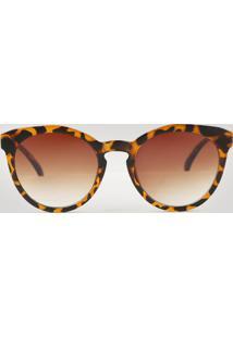 66a67f84f7f0e CEA. Óculos De Sol Feminino Redondo Oneself Tartaruga ...