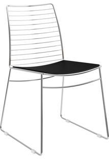 Kit 2 Cadeiras 1712 Couríssimo Móveis Carraro Preto