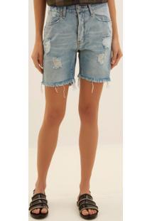 Bermuda John John Hills Jeans Azul Feminina (Jeans Claro, 48)