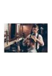 Painel Adesivo De Parede - Barbearia - Barber Shop - 1066Pnm